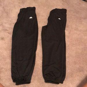 2 pair adidas softball pants